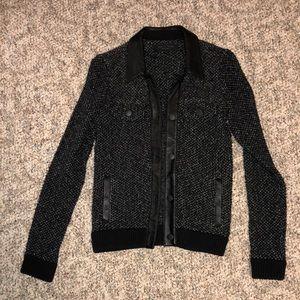 Rag & Bone Lamb Leather Knit Jacket